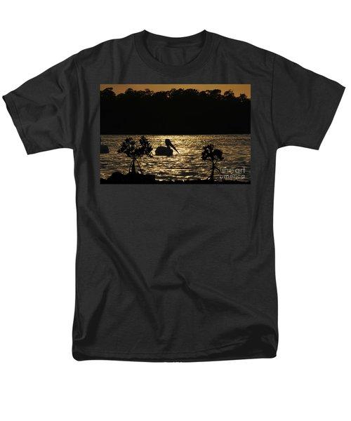 Men's T-Shirt  (Regular Fit) featuring the photograph White Pelican Evening by Dan Friend