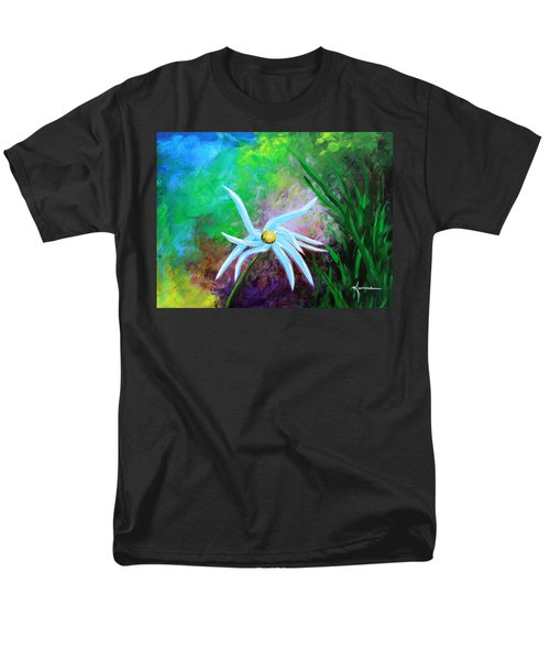 Men's T-Shirt  (Regular Fit) featuring the painting Wild Daisy 2 by Kume Bryant