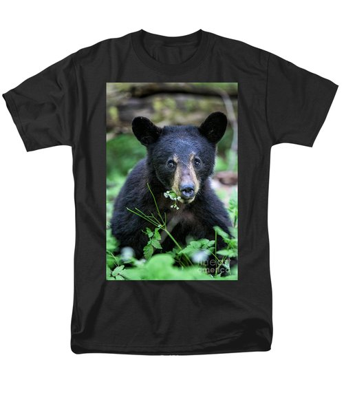 Wildflower Bear Men's T-Shirt  (Regular Fit) by Ronald Lutz