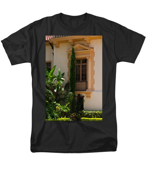 Men's T-Shirt  (Regular Fit) featuring the photograph Window At The Biltmore by Ed Gleichman