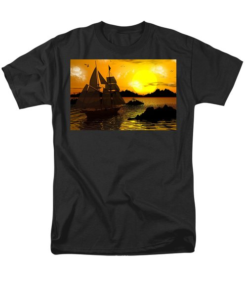 Wooden Ships Men's T-Shirt  (Regular Fit) by Robert Orinski