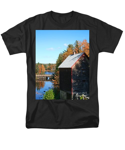 Men's T-Shirt  (Regular Fit) featuring the photograph Working Gristmill by Barbara McMahon