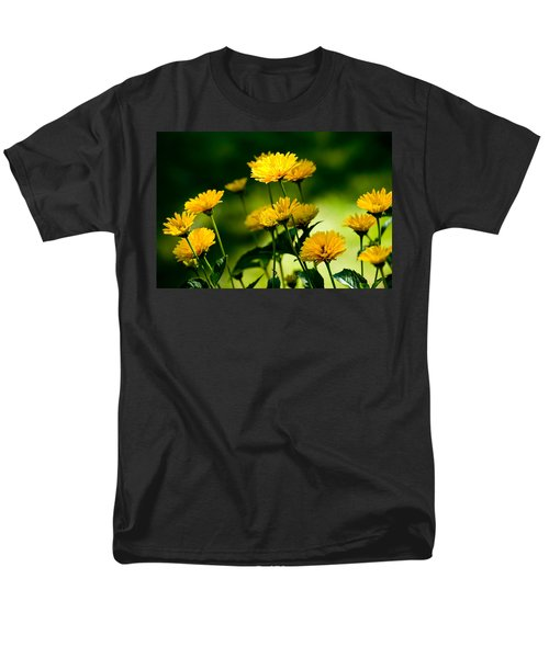 Yellow Daisies Men's T-Shirt  (Regular Fit) by Rich Franco