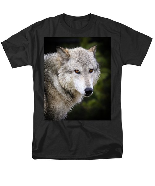 Men's T-Shirt  (Regular Fit) featuring the photograph Yellow Eyes by Steve McKinzie