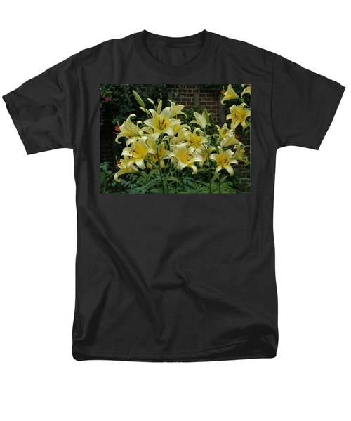 Men's T-Shirt  (Regular Fit) featuring the photograph Yellow Oriental Stargazer Lilies by Tom Wurl