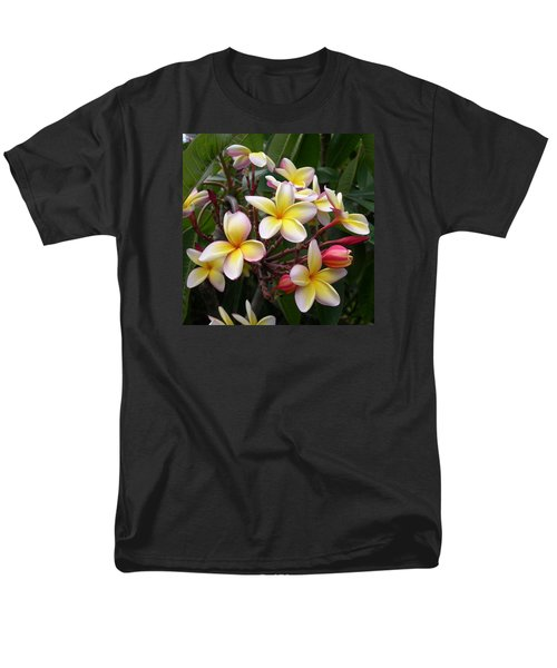 Men's T-Shirt  (Regular Fit) featuring the digital art Yellow Plumeria by Claude McCoy