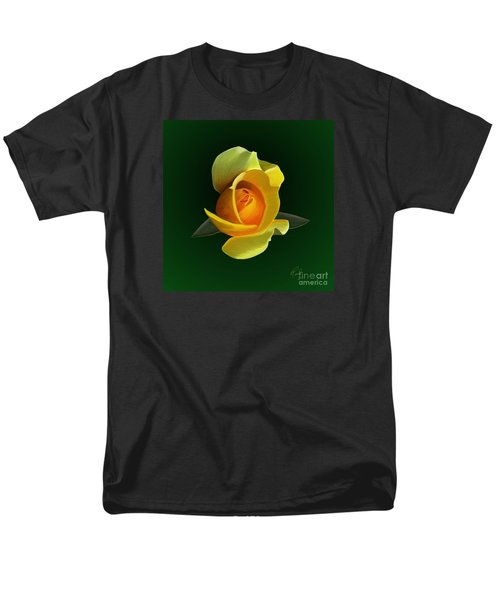 Men's T-Shirt  (Regular Fit) featuring the painting Yellow Rose by Rand Herron
