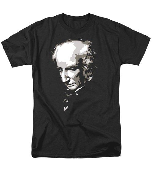 William Wordsworth Black And White Silhouette Art Men's T-Shirt  (Regular Fit) by Heidi De Leeuw