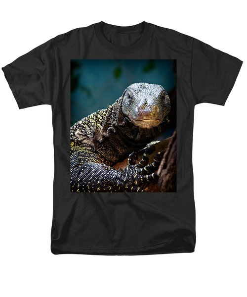 A Crocodile Monitor Portrait Men's T-Shirt  (Regular Fit) by Lana Trussell