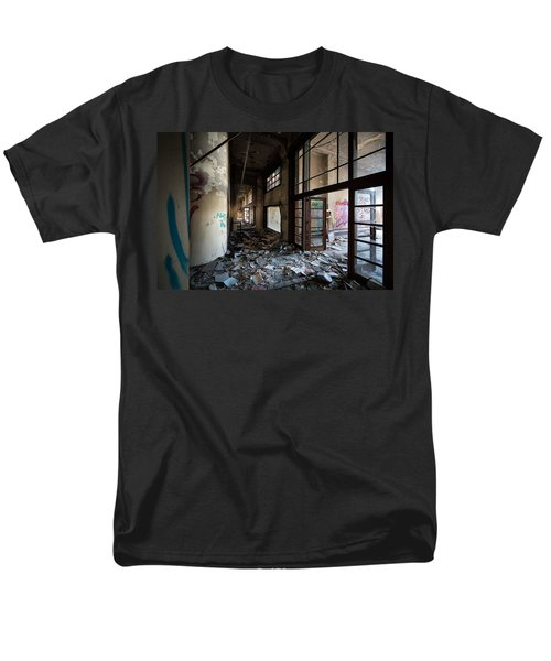 Demolished School Building- Urban Decay Men's T-Shirt  (Regular Fit) by Dirk Ercken