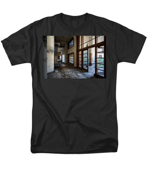 Demolished School Building- Urban Exploration Men's T-Shirt  (Regular Fit) by Dirk Ercken