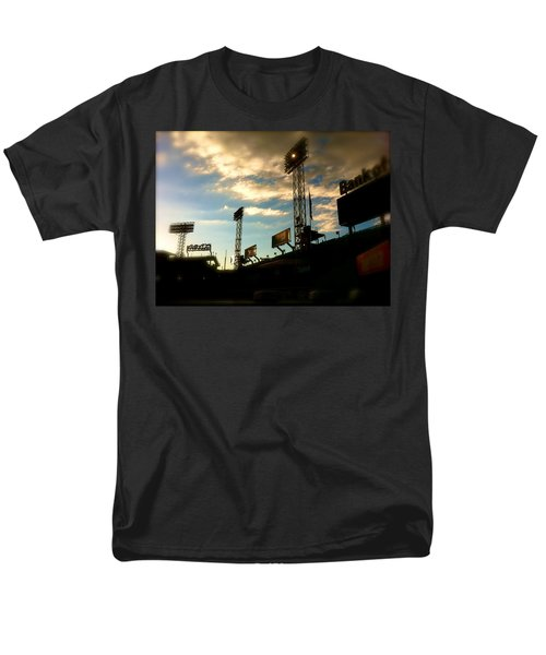 Men's T-Shirt  (Regular Fit) featuring the photograph  Fenway Lights Fenway Park David Pucciarelli  by Iconic Images Art Gallery David Pucciarelli