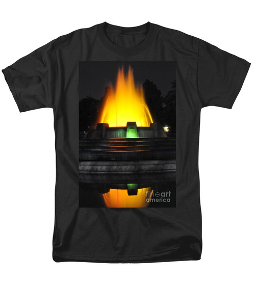 Mulholland Fountain Reflection Men's T-Shirt  (Regular Fit) by Clayton Bruster