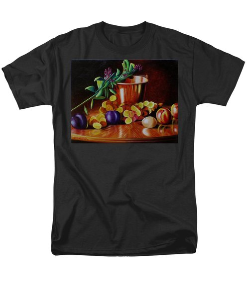 Men's T-Shirt  (Regular Fit) featuring the painting  Pail Of Plenty by Gene Gregory