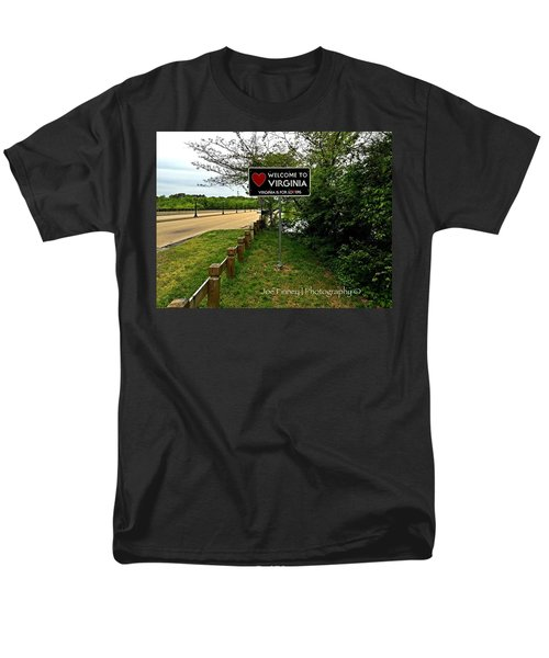 Men's T-Shirt  (Regular Fit) featuring the digital art  Welcome To Virginia  - No.430 by Joe Finney