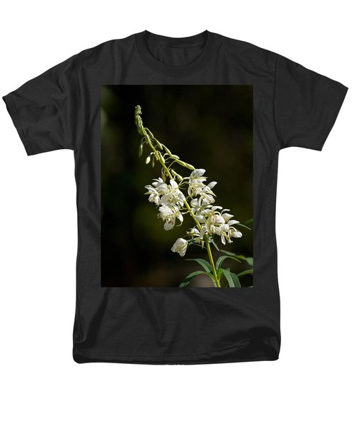 Men's T-Shirt  (Regular Fit) featuring the photograph  White Fireweed by Jouko Lehto