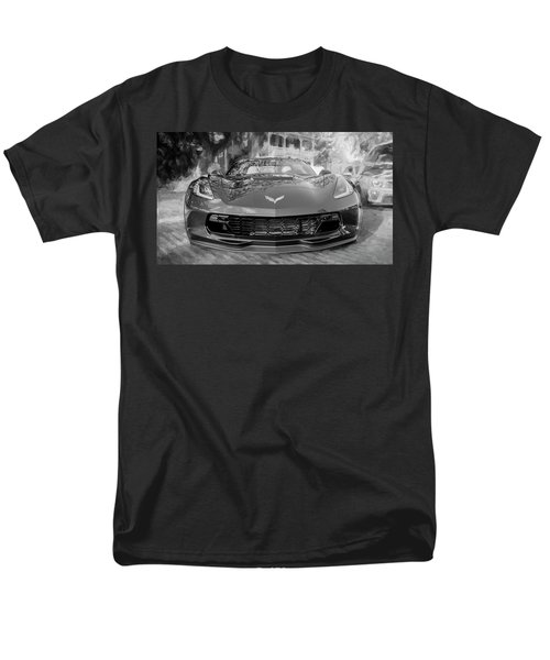 Men's T-Shirt  (Regular Fit) featuring the photograph 2017 Chevrolet Corvette Gran Sport Bw by Rich Franco