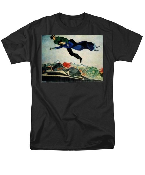 Above The Town Men's T-Shirt  (Regular Fit) by Chagall