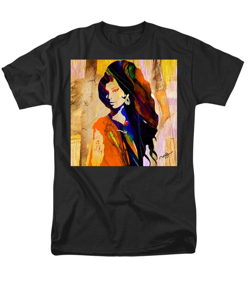 Amy Winehouse Men's T-Shirt  (Regular Fit) by Marvin Blaine