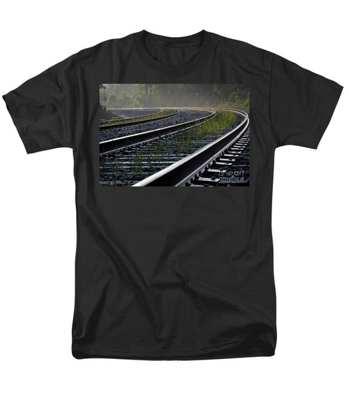 Men's T-Shirt  (Regular Fit) featuring the photograph Around The Bend by Douglas Stucky