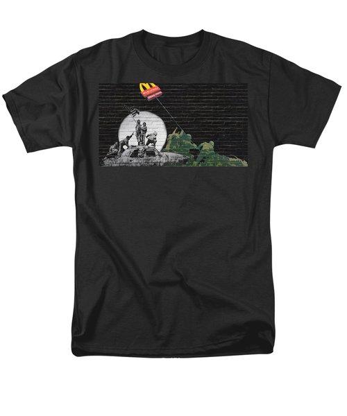 Banksy - The Tribute - New World Order Men's T-Shirt  (Regular Fit) by Serge Averbukh