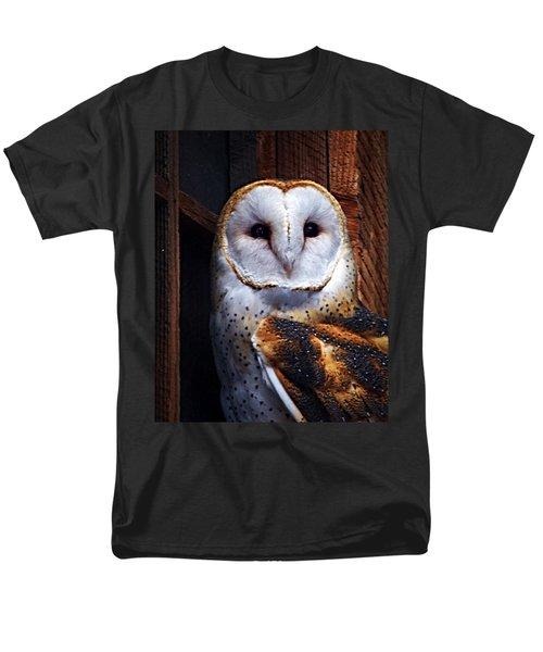 Barn Owl  Men's T-Shirt  (Regular Fit) by Anthony Jones