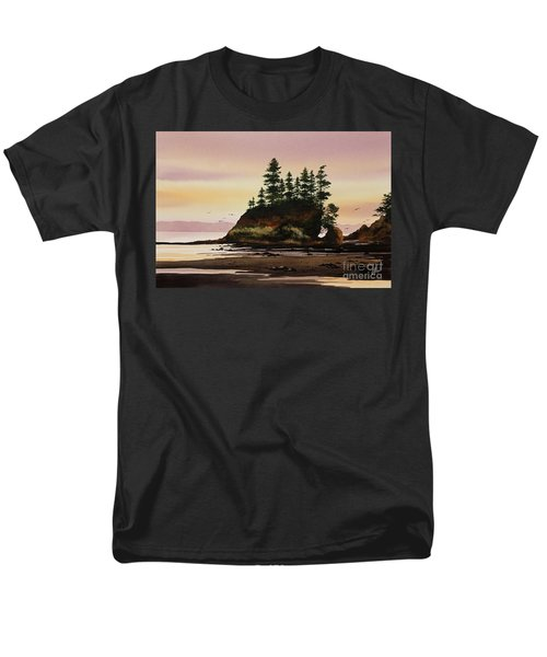 Men's T-Shirt  (Regular Fit) featuring the painting Beautiful Shore by James Williamson