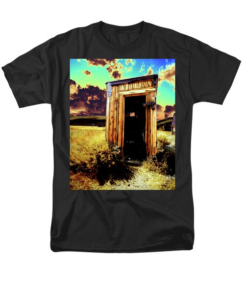 Men's T-Shirt  (Regular Fit) featuring the photograph Bodie Outhouse by Jim and Emily Bush