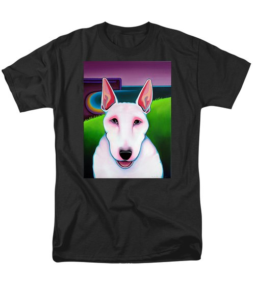 Men's T-Shirt  (Regular Fit) featuring the painting Bull Terrier by Leanne WILKES