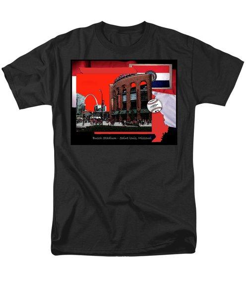 Men's T-Shirt  (Regular Fit) featuring the photograph Busch Stadium Saint Louis Missouri by John Freidenberg
