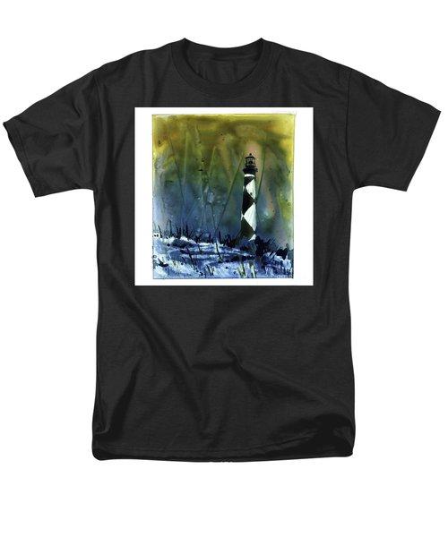 Cape Lookout Lighthouse Men's T-Shirt  (Regular Fit) by Ryan Fox