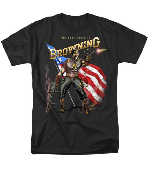 Captain Browning Men's T-Shirt  (Regular Fit) by Rob Corsetti