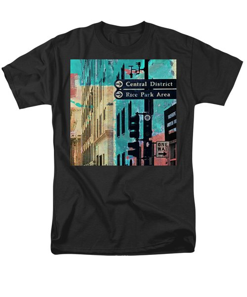 Men's T-Shirt  (Regular Fit) featuring the photograph Central District by Susan Stone