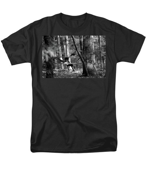 Crow On A Table Men's T-Shirt  (Regular Fit) by Andy Lawless