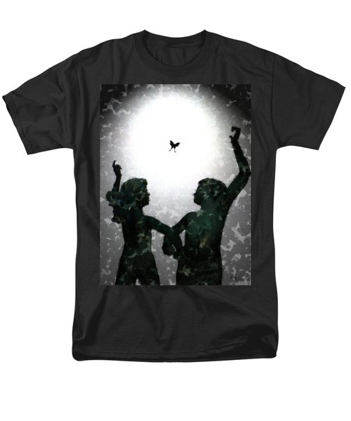 Men's T-Shirt  (Regular Fit) featuring the digital art Dancing Silhouettes by Holly Ethan