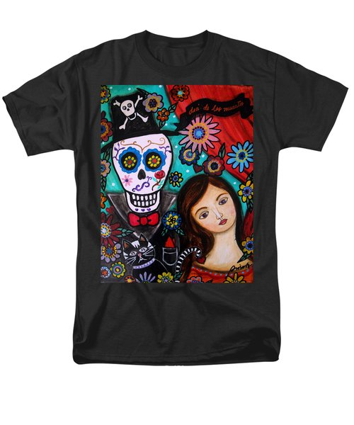 Men's T-Shirt  (Regular Fit) featuring the painting Day Of The Dead by Pristine Cartera Turkus