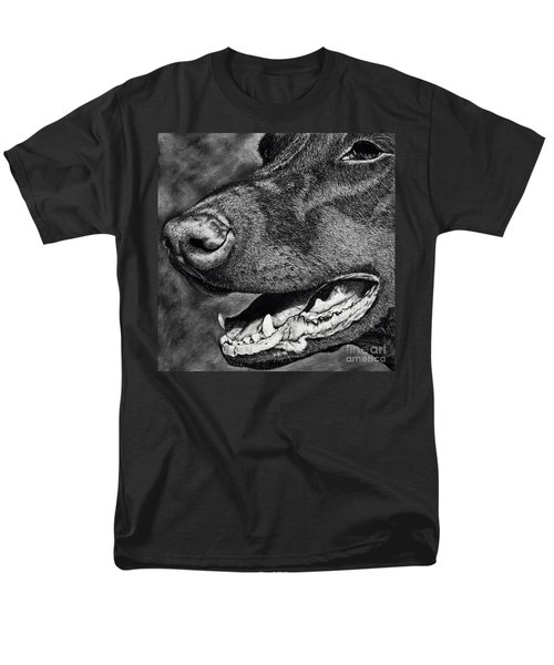 Doberman Face Men's T-Shirt  (Regular Fit) by Terri Mills
