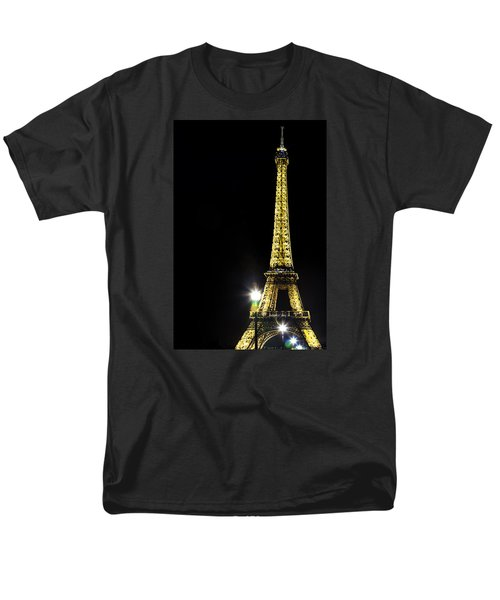 Men's T-Shirt  (Regular Fit) featuring the photograph Eiffel At Night by Andrew Soundarajan
