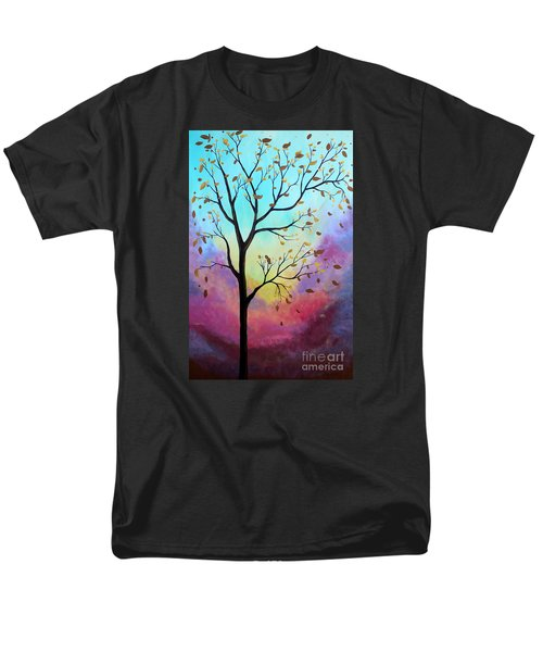 Men's T-Shirt  (Regular Fit) featuring the painting Enchanted Aura by Stacey Zimmerman