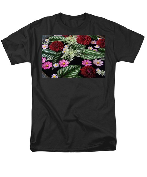 Men's T-Shirt  (Regular Fit) featuring the photograph Floating Flower Bouquet by Byron Varvarigos