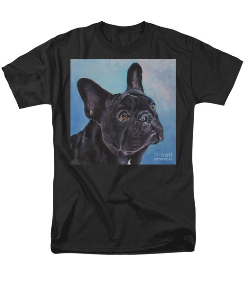 Men's T-Shirt  (Regular Fit) featuring the painting French Bulldog by Lee Ann Shepard
