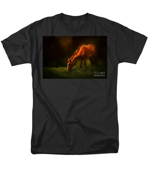 Grazing Men's T-Shirt  (Regular Fit) by Charuhas Images