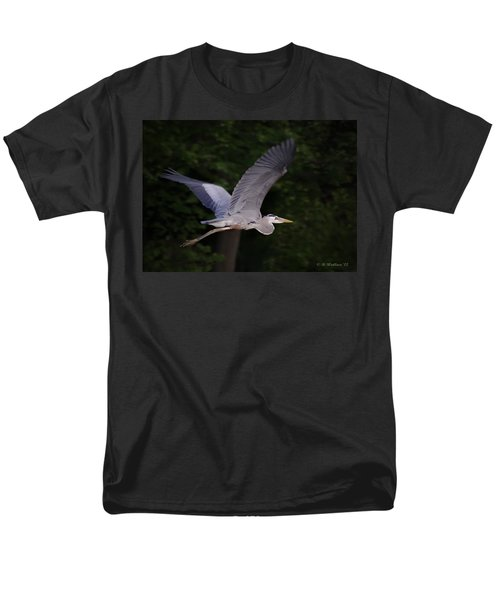 Great Blue Heron In Flight Men's T-Shirt  (Regular Fit) by Brian Wallace