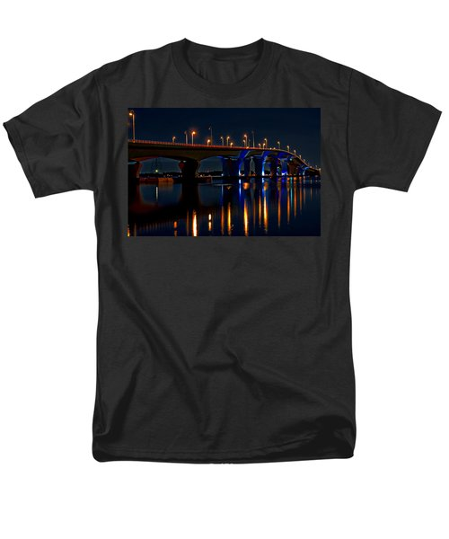 Hathaway Bridge At Night Men's T-Shirt  (Regular Fit) by Anthony Dezenzio