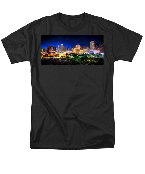Men's T-Shirt  (Regular Fit) featuring the photograph Houston City Lights by David Morefield