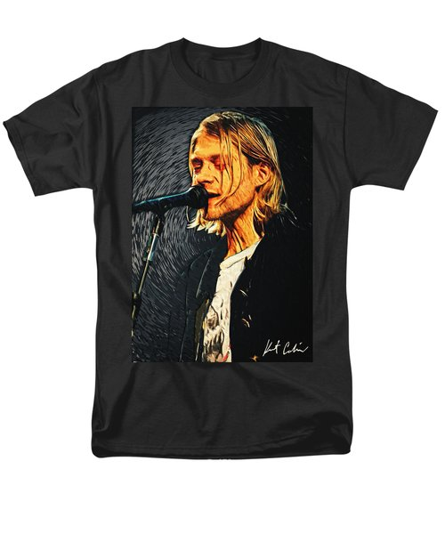 Kurt Cobain Men's T-Shirt  (Regular Fit) by Taylan Apukovska