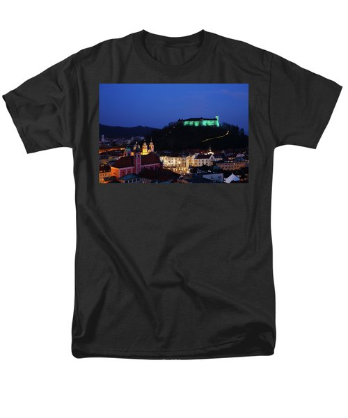 Ljubljana Castle Men's T-Shirt  (Regular Fit) by Ian Middleton