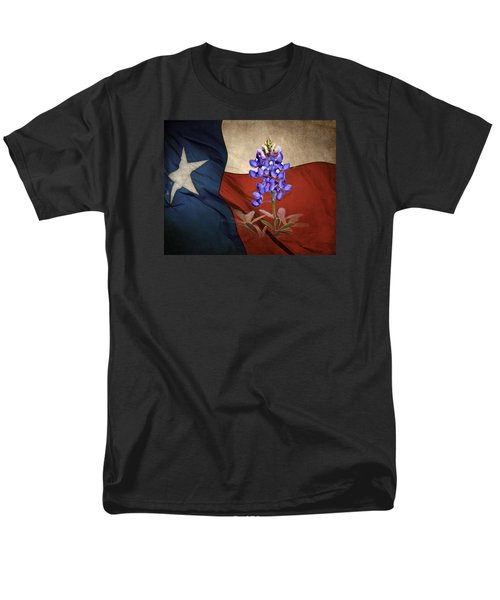 Lone Star Bluebonnet Men's T-Shirt  (Regular Fit) by David and Carol Kelly