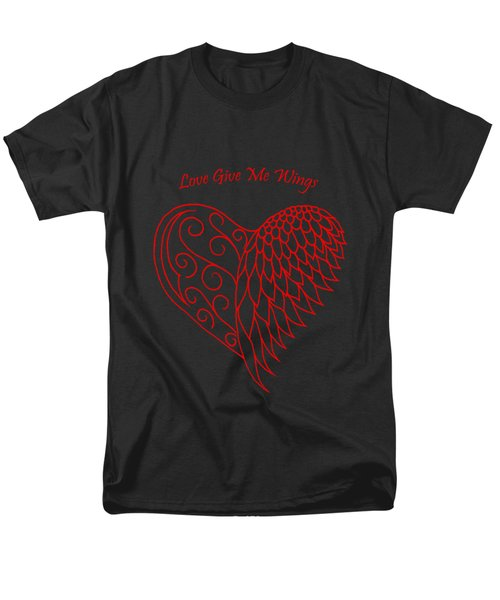 Love Give Me Wings Men's T-Shirt  (Regular Fit) by Terri Waters