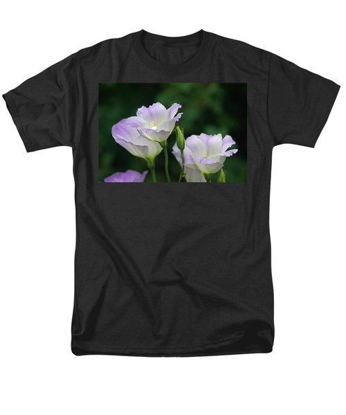 Men's T-Shirt  (Regular Fit) featuring the photograph Lovely Lisianthus by Byron Varvarigos